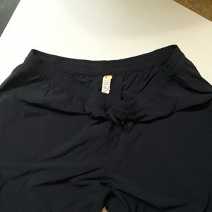 Lucy Navy Stripe Crop Pant XL New Without Tags